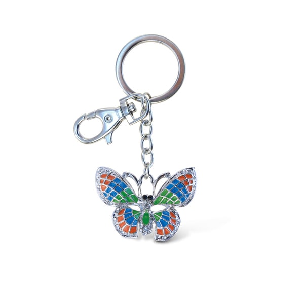 Puzzled Butterfly Colored Sparkling Charm