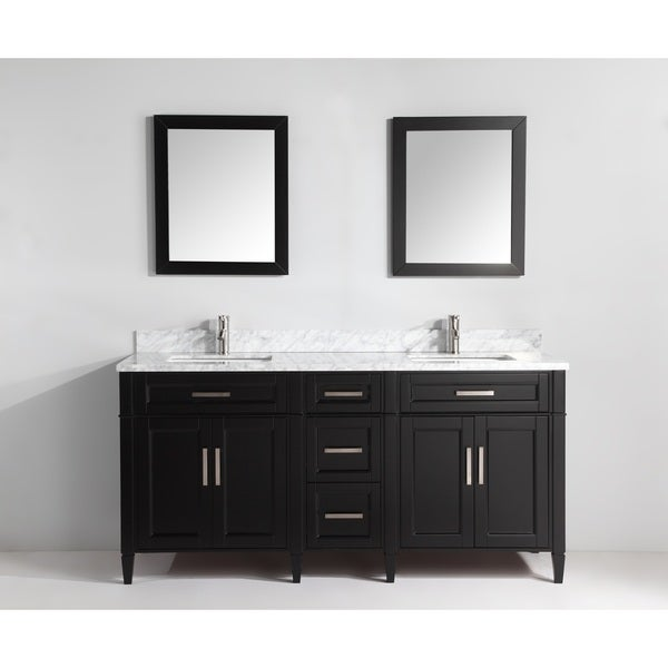Vanity Art Two Inch Double Sink Bathroom Vanity Set With Carrara Marble Top Free Shipping Today