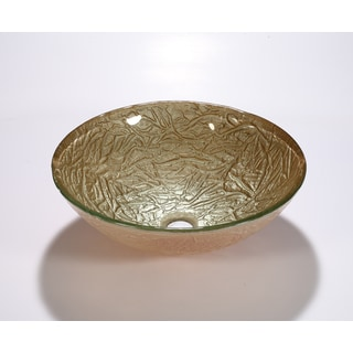 Legion Furniture Gold Glass Round Bathroom Vessel Sink Bowl