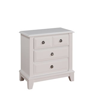 White 3-Drawer Nightstand