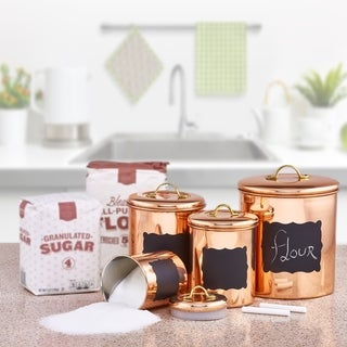 Copper 4-piece Chalkboard Canister Set