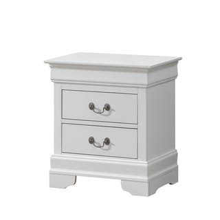 White 2-drawer Nightstand