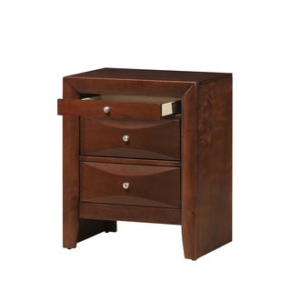 Cherry 3-drawer Nightstand