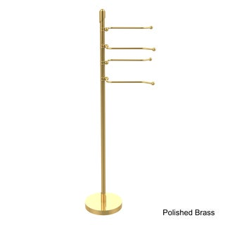 Allied Brass Soho Collection Free-standing Pivoting Swing Arm Towel Stand