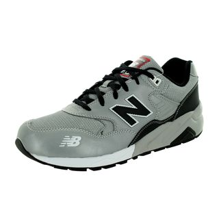 New Balance Men's 580 Lifestyle Black/Silver Mesh/Leather Running Shoes