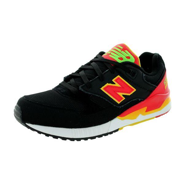 New Balance Men's 90S 530 Classics Black/Red/Yellow Running Shoe