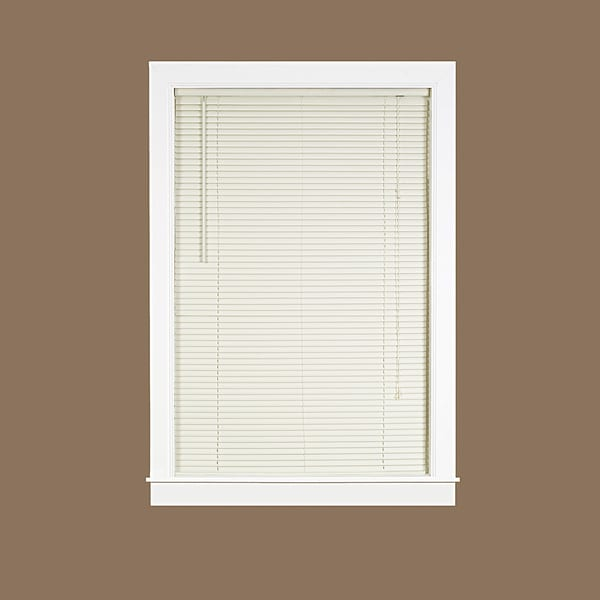 Deluxe Sundown Alabaster Vinyl 1-inch Room-darkening Mini Blind