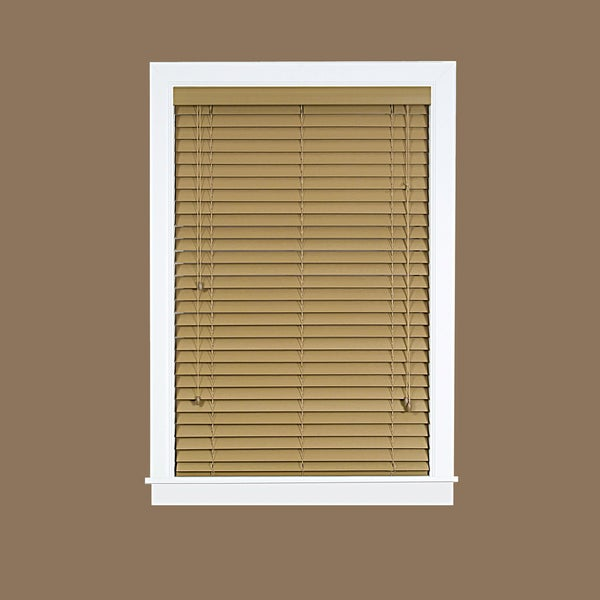Madera Falsa Maple Faux Wood Vinyl 2-inch Plantation Blinds