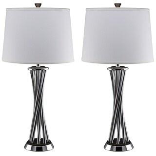 Nova Lighting Array Chrome Steel Table Lamp (Set of 2)