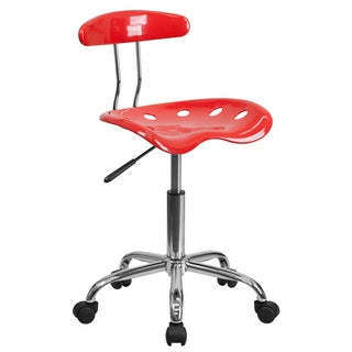 Saddle Tomato Red Home Office Chair with Tractor Seat
