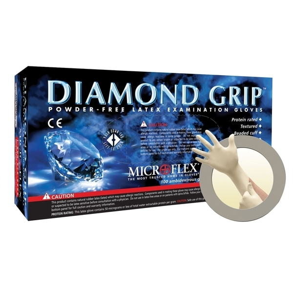 Diamond Grip Powder-Free Latex Gloves - X Large