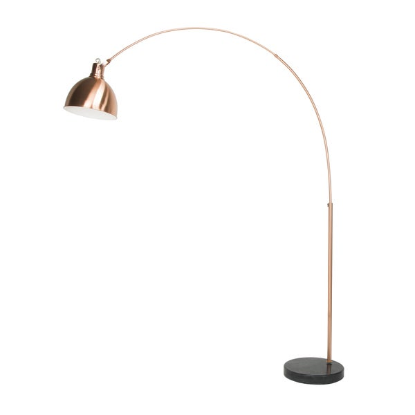 Euro Style Collection London Marble-base 75-inch Modern Floor Lamp