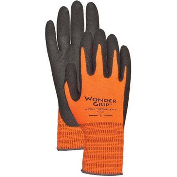 Hi-Visibility Orange Acrylic with Nitrile XL