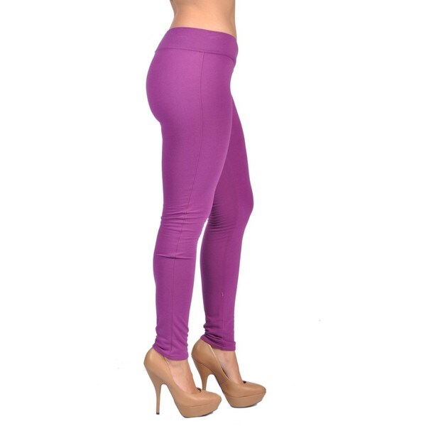 C'est Toi Royal Purple Pull-on Leggings