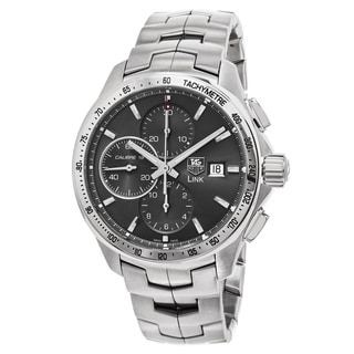 Tag Heuer Men's CAT2017.BA0952 'Link' Grey Dial Stainless Steel Chronograph Swiss Automatic Watch