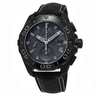 Tag Heuer Men's CAY218B.FC6370 '300 Aquaracer' Grey Dial Black Fabric Strap Chronograph Swiss Automatic Watch