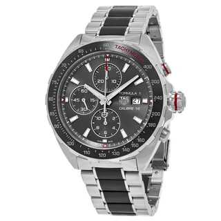 Tag Heuer Men's CAZ2012.BA0970 'Formula 1' Gret Dial Stainless Steel/Ceramic Chronograph Swiss Automatic Watch
