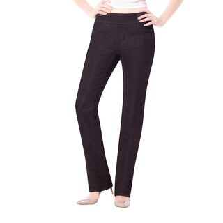 Bluberry Denim Women's Black Rinse Straight Leg Jeans
