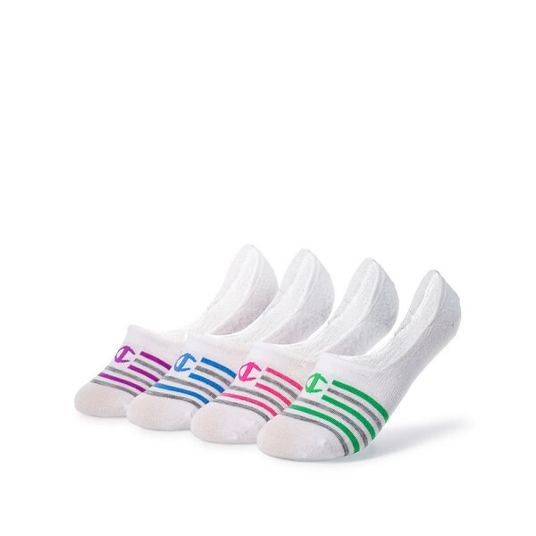 Champion Women's Performance Liner Stripe Socks (4-pack)