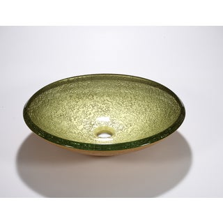 Legion Furniture Lime Yellow Bowl Vessel Sink