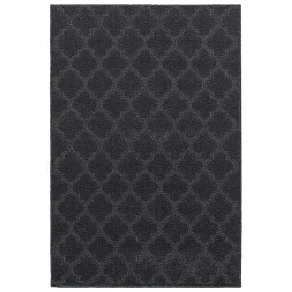 Scalloped Lattice Luxury Navy/ Blue Rug (9'10 x 12'10)