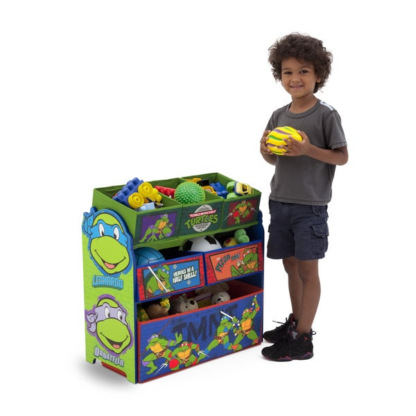 Nickelodeon Teenage Mutant Ninja Turtles Multi-bin Toy Organizer