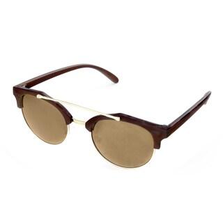 Hot Optix Women's Round Fashion Sunglasses With Metal Browbar