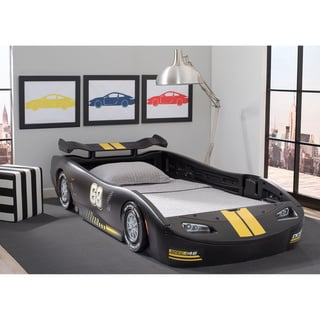 Delta Children's Black Turbo Race Car Twin Bed