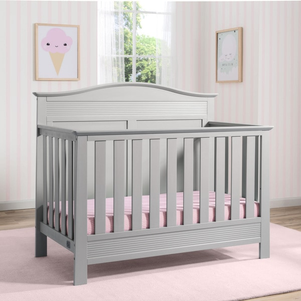 Serta Barrett Grey 4-in-1 Convertible Crib