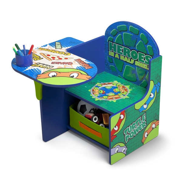 Delta Nickelodeon Teenage Mutant Ninja Turtles Chair Desk with Storage Bin 19949205
