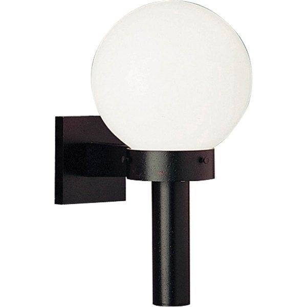 Progress Lighting Black Acrylic Globe One-light Wall Lantern