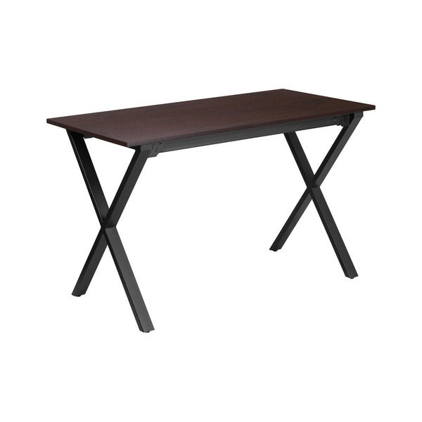 Offex Contemporary Walnut/Black Frame 47.25-inch W x 23.75-inch D Rectangular-top Computer Desk