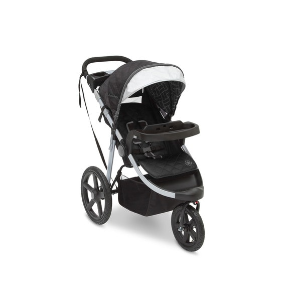 Delta Children 'J is for Jeep' Black All-terrain Jogging Stroller With Charcoal Tracks