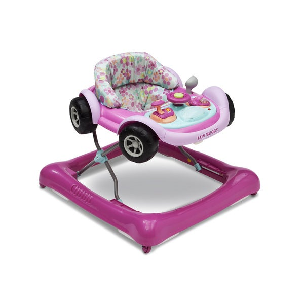 Delta Children Lil' Drive Pink Baby Activity Walker