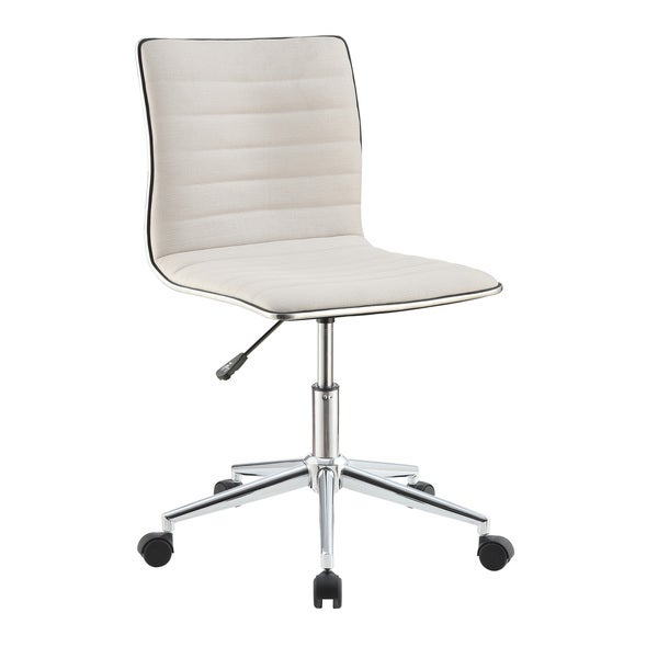 Coaster Cream/Chrome Office Chair