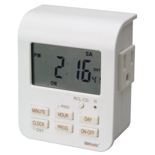 Woods 50009 White Heavy Duty Indoor Digital Timer