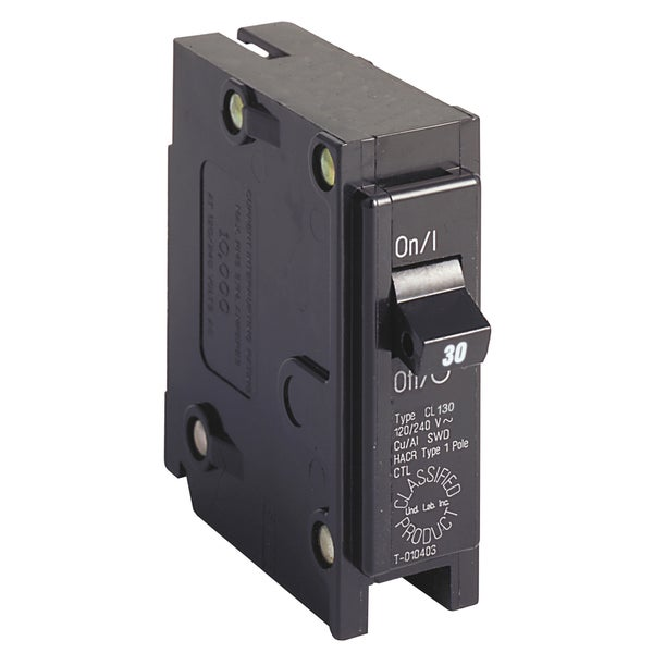 Eaton CL130CS 30A Single Pole UL Classified Replacement Breaker
