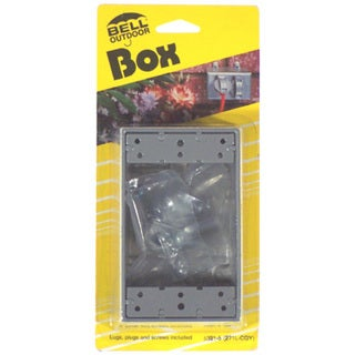 Bell Outdoor 5324-5 Gray Single Gang Weatherproof Box