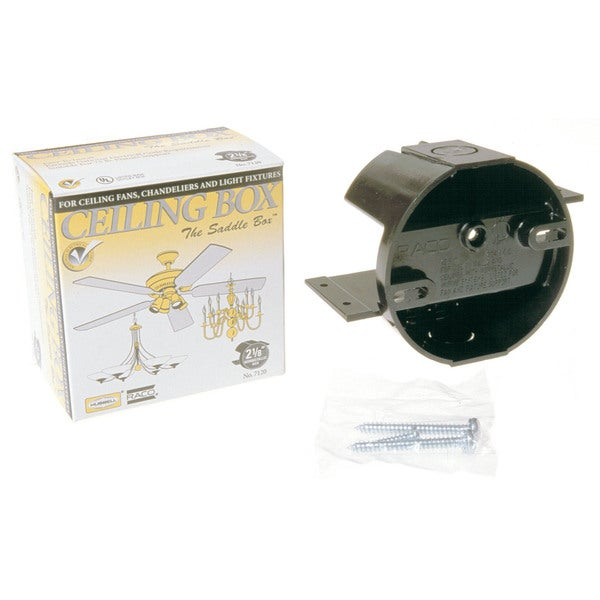 Hubbell Raco 7120 Round Ceiling Cable Box For Ceiling Fans