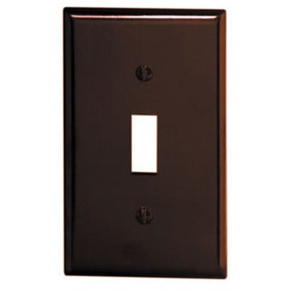 Leviton 001-85001-BR Single Gang Brown Single Toggle Wallplate