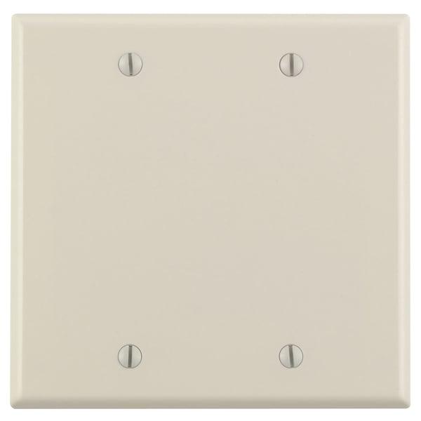 Leviton 000-78025-000 Light Almond 2 Gang Blank Wall Plate