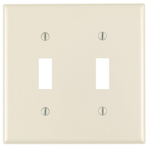 Leviton 000-78009-000 Light Almond 2 Gang Toggle Switch Wall Plate