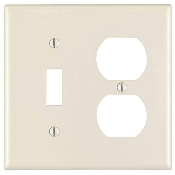 Leviton 000-78005-000 Lt Almond 2 Gang 1 Toggle & 1 Duplex Combination Wall Plate