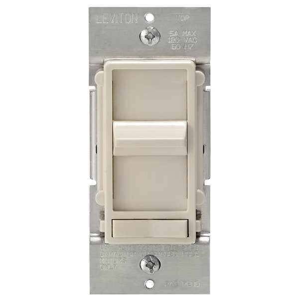 Leviton 008-06637-0PT Light Almond 1 Gang Toggle Switch Wall Plate