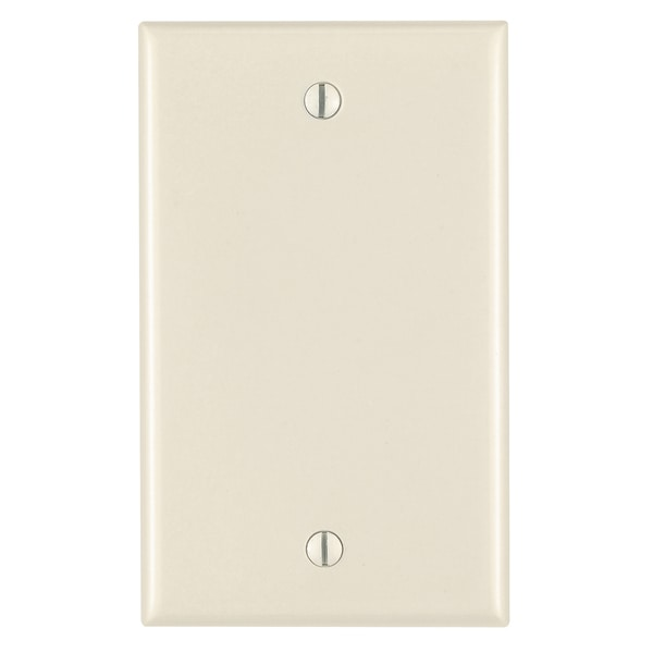 Leviton 005-80514-00T 1-Gang Almond No-Device Blank Wall Plate