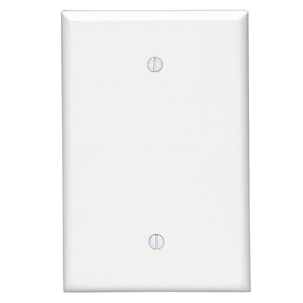 Leviton 003-80514-00W 1-Gang White No Device Blank Wall Plate