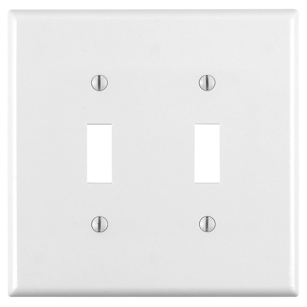 Leviton 003-80509-00W 2-Gang White Device Switch Wall Plate