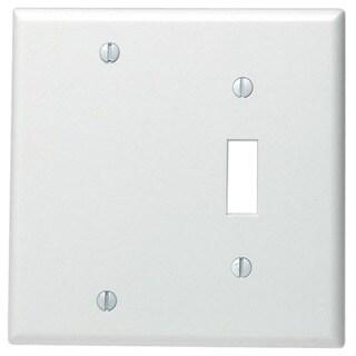 Leviton 002-88006-0 Single Gang White Toggle & Blank Wallplate