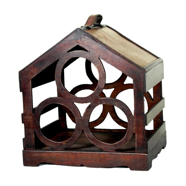 Birdhouse 3 Bottles Wine Holder
