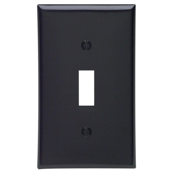 Leviton 015-80701-00E Black 1-Gang Toggle Device Switch Wallplate